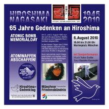 Hiroshima-Tag München 2010 Marienplatz 18 Uhr