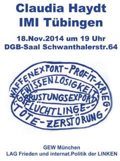 Claudia Haydt 18.11.2014 DGB-Haus München