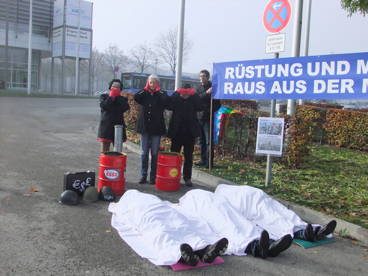 Protest AIRTEC Messe Nord