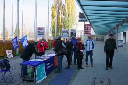 Protest AIRTEC Messe West